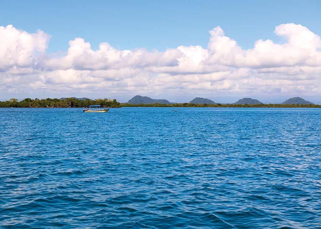 View of Seven Hills Range from Punta Gorda's coast. Photo © Lebawit Lily Girma.