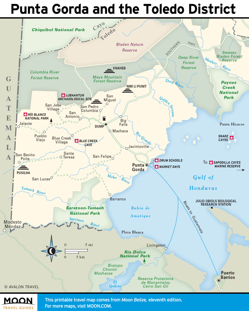 Maps - Belize 11e - Punta Gorda and the Toledo District