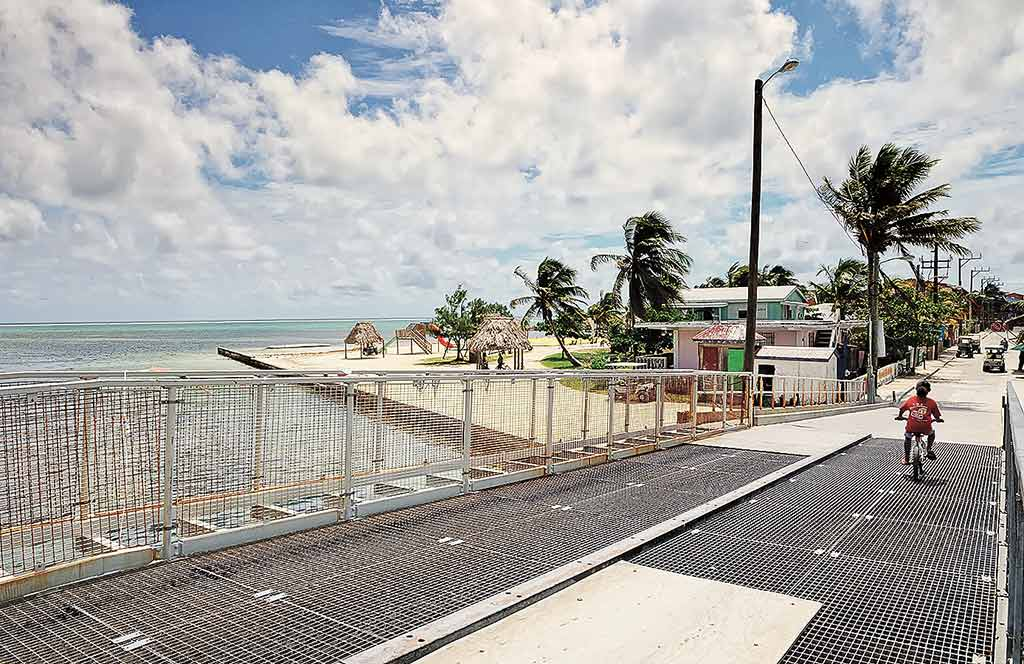 Toll bridge connecting San Pedro with north Ambergris Caye. Photo © Lebawit Lily Girma.