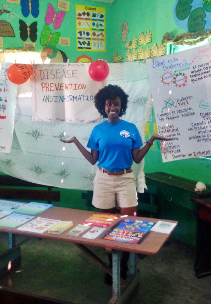 Volunteer Sameera Hassan in Belize.