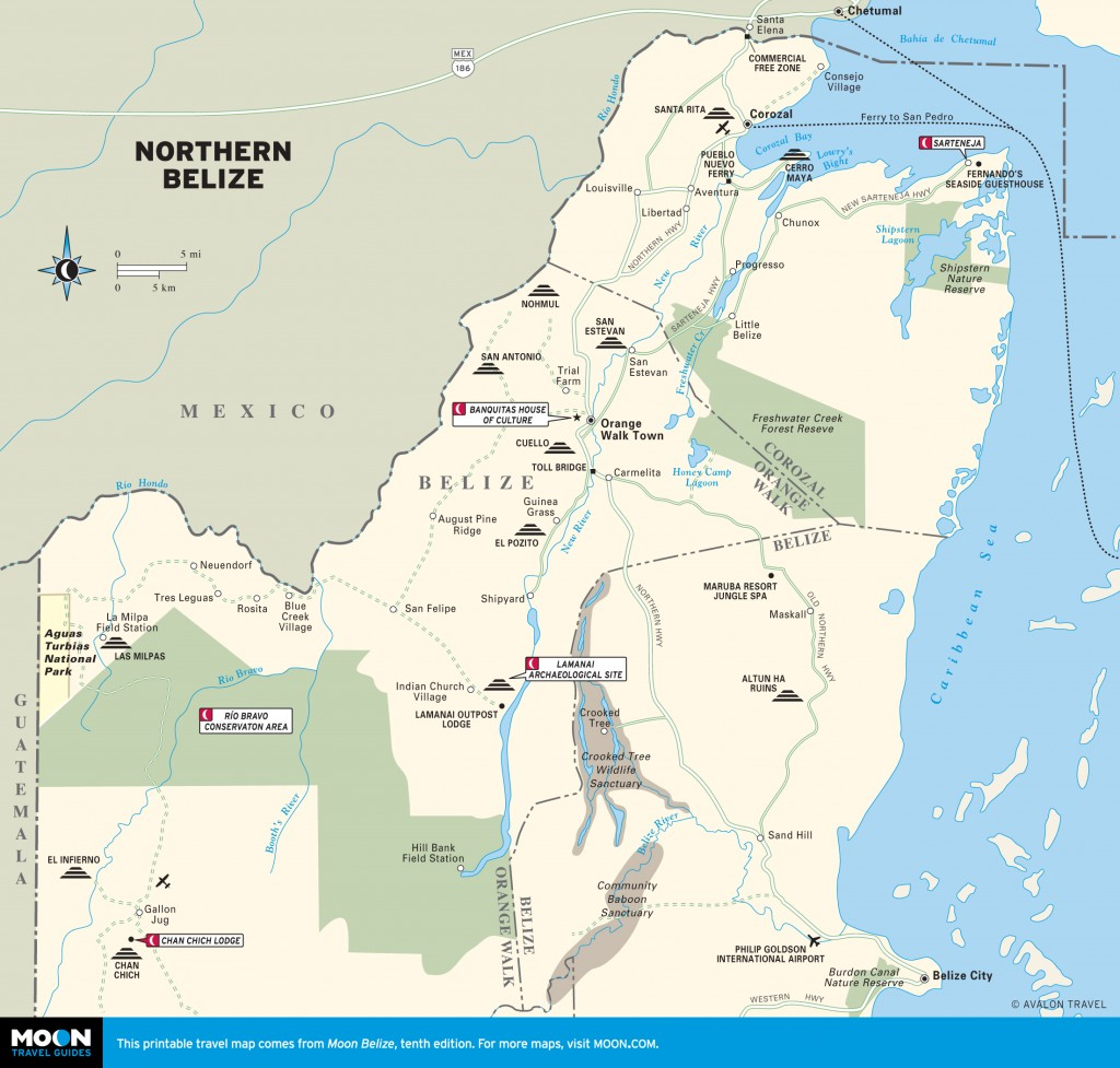 Map of Northern Belize