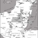 Map of Maya Archaeological Sites