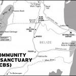 Map of Belize's Community Baboon Sanctuary