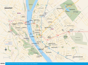 Travel map of Budapest, Hungary
