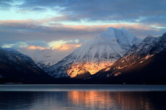 Sunset on Lake McDonald.