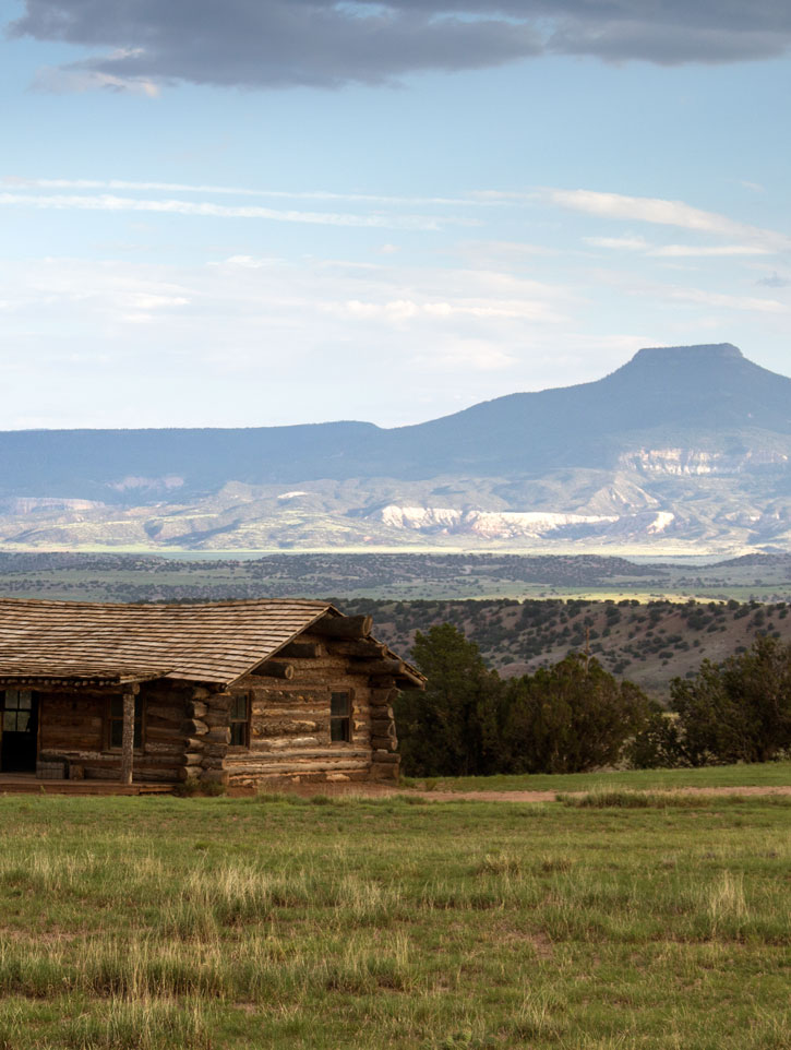 New Mexico's Pedernal Peak, seen from Ghost Ranch where Georgia O'Keeffe kept a studio.