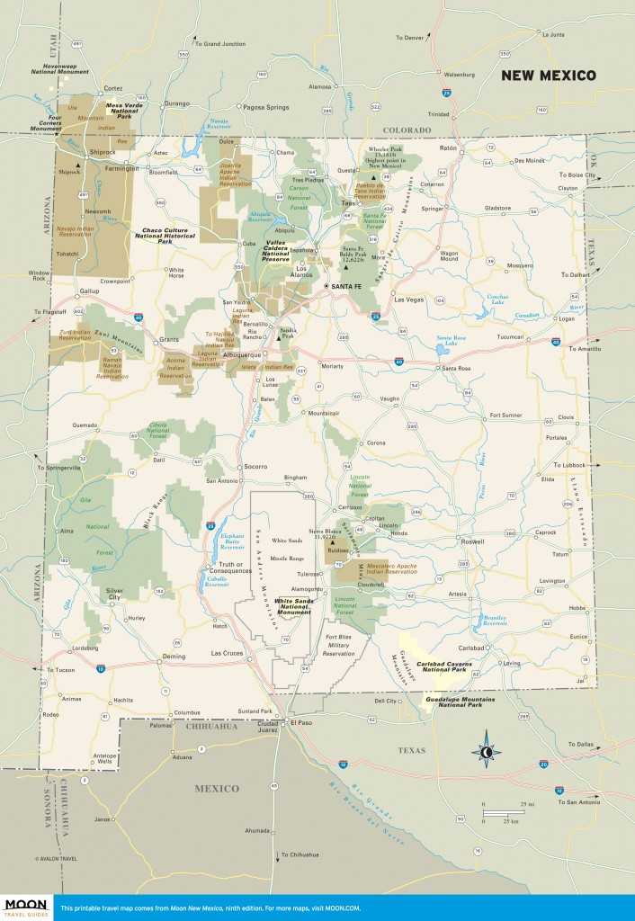 Travel map of New Mexico