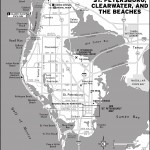 Map of St. Petersburg Clearwater and the Beaches, Florida
