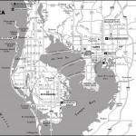 Map of Tampa Bay Area, Florida