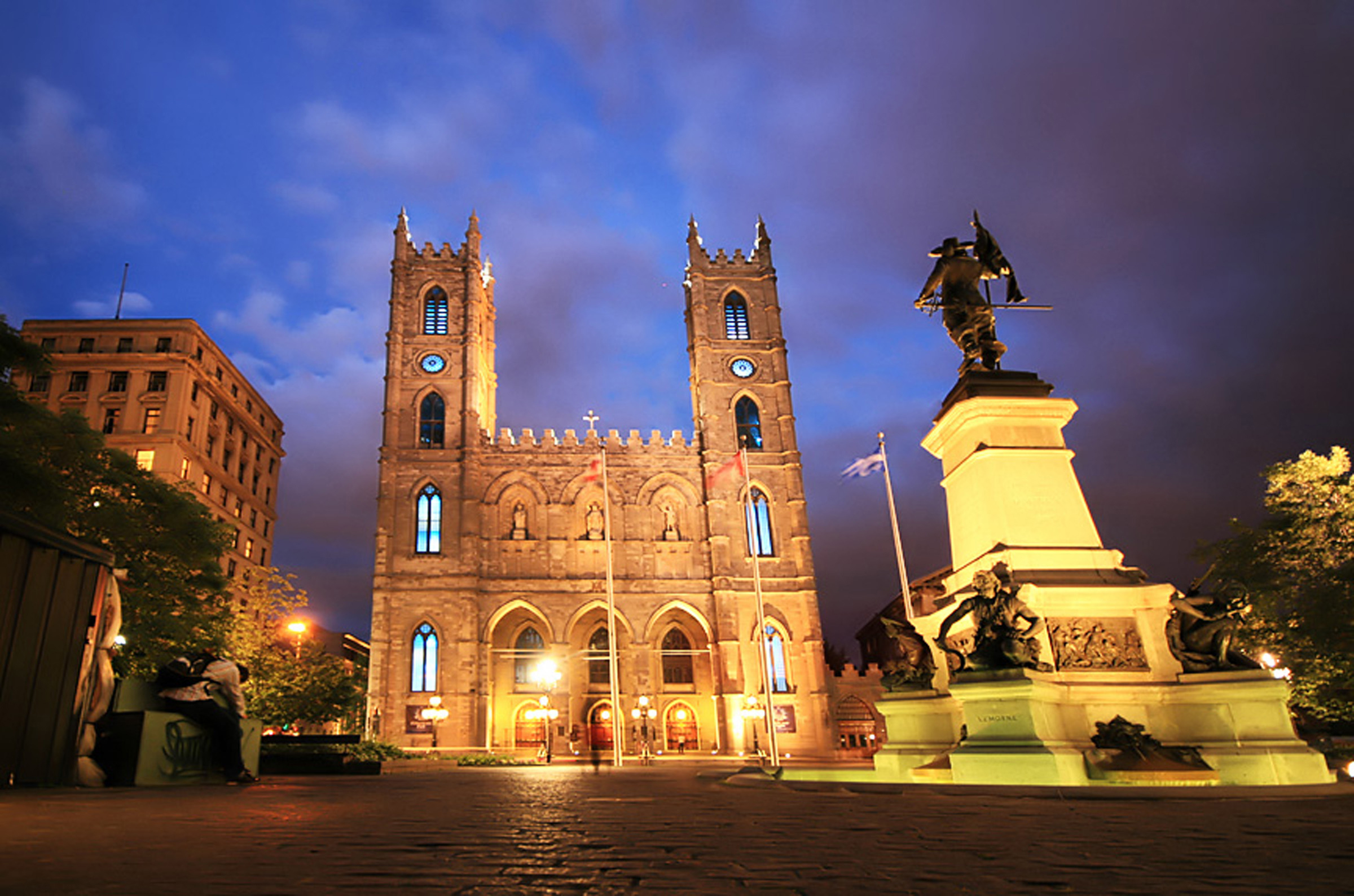 Place d'Armes in Old Montréal, the center of the city's historic icons.  Image by L. Toshio Kishiyama / Getty