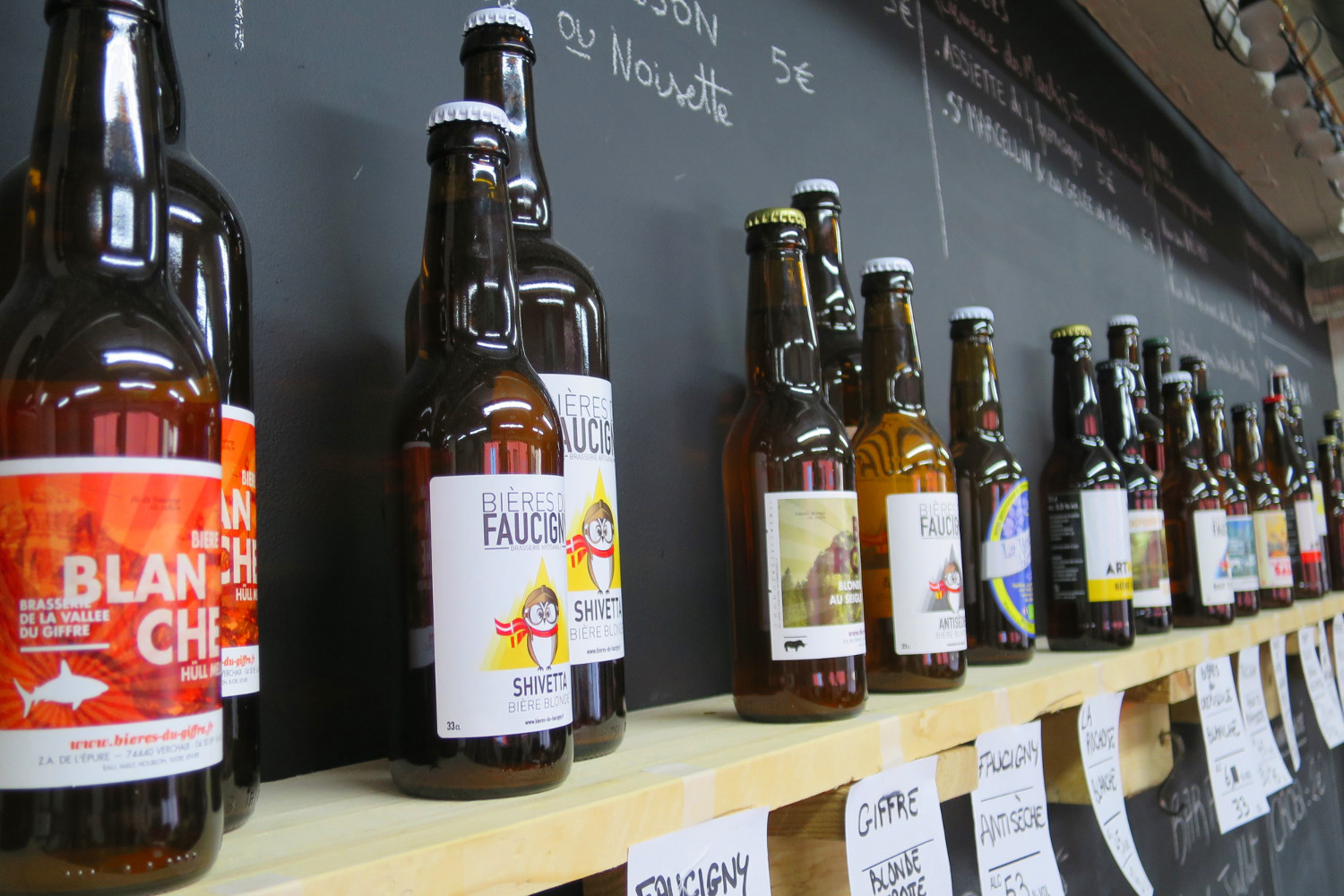 Wide selection of French beer available at ArtMalté in Annecy. Image by Megan Eaves / Lonely Planet