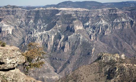 The rugged mountainous scenery of Copper Canyon