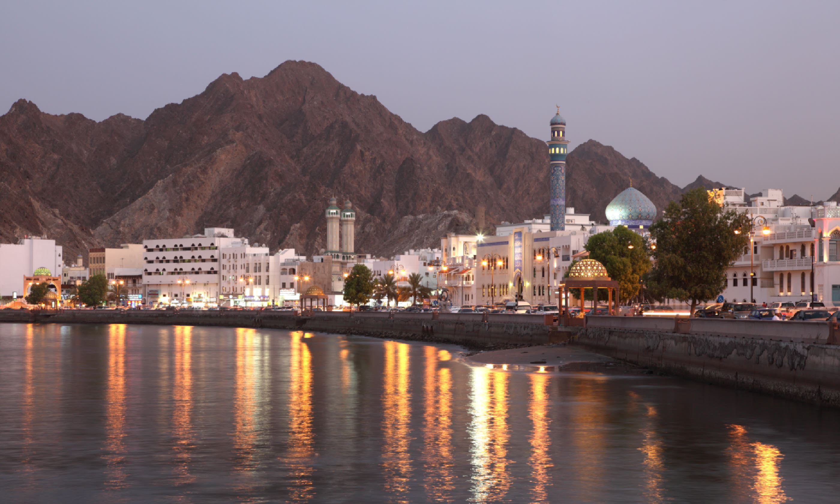 Main image: Muttrah Corniche at dusk (Shutterstock: see credit below)