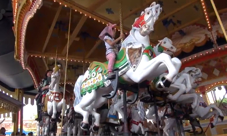 Castle Carrousel In Fantasyland At Tokyo Disneyland Japan