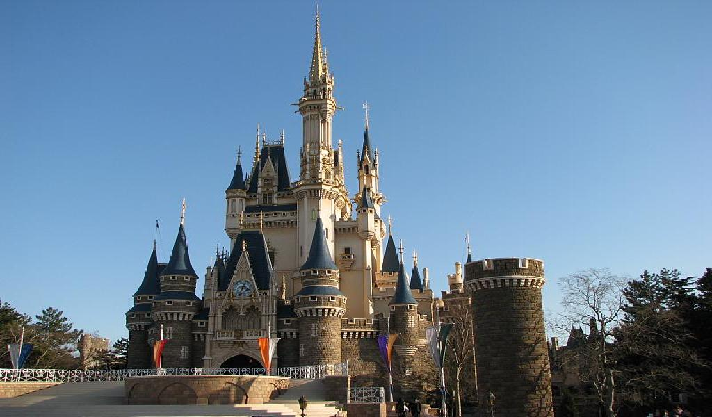 Overview Of The Attraction Areas Of Tokyo Disneyland Japan