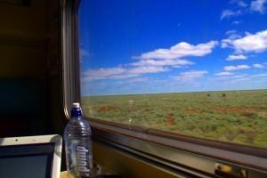 train window and computer