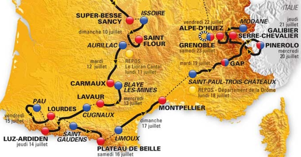 3 Interesting Things About The 2011 Tour De France Route France