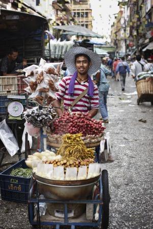 A Bangkok street vendor.