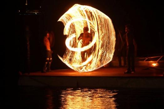 Fire show at Au Fare.