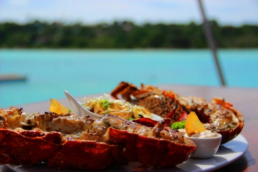Lobster by the water at Au Fare.