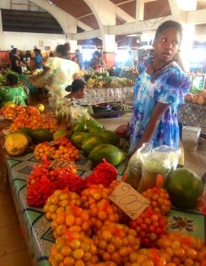 Fruit for sale at Port Vila Market.