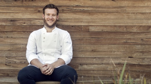 Chef Lachlan Colwill from Hentley Farm.