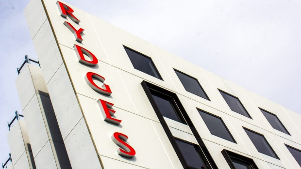 The finishing touches are still being put on the Rydges Hotel in Fortitude Valley.