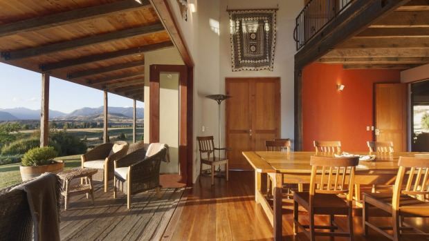 Inside Riverun Lodge.