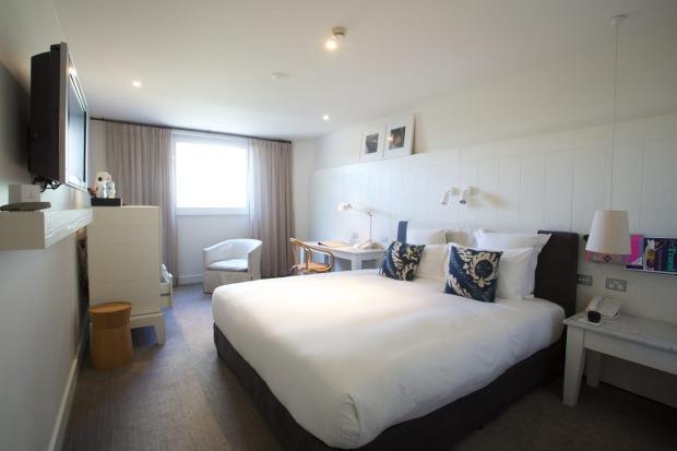 A standard room at Pier One Sydney Harbour.