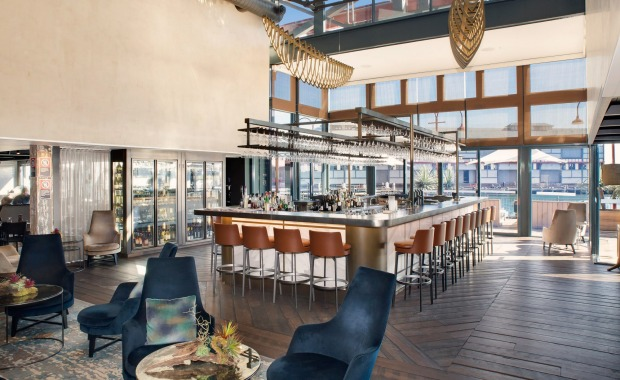 The hotel's Gantry Restaurant and Bar offers a seasonal menu created by executive chef Joel Bickford.