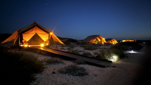 Night lights: The tenting experience at Sal Salis, a bush camp with a difference.