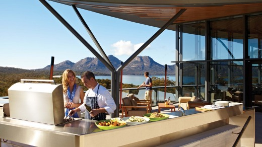 Stunning views along with a barbecue lunch at Saffire Freycinet.