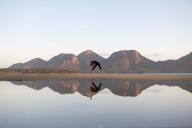 Saffire Yoga on Muir's Beach.