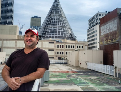 Creator Jerome Borazio at the rooftop before it was transformed.