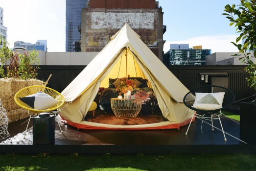 St Jerome's – The Hotel is an atmospheric space which provides a memorable stay under canvas in the middle of the city.