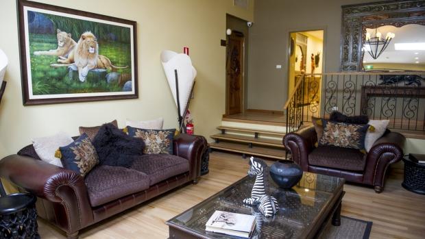The reception area at Jamala Wildlife Lodge.