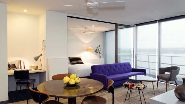 Hipster cool meets function in Canberra's Design Icon Apartments.