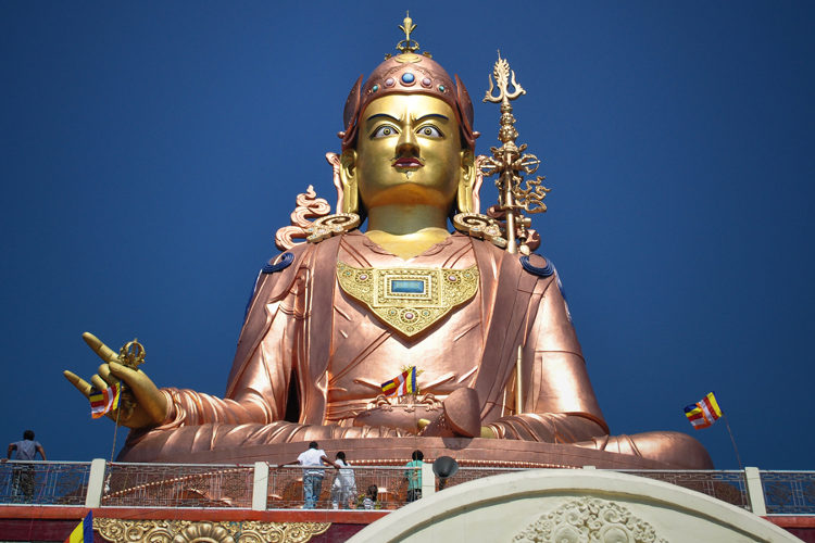 Monumental statue of Guru Rinpoche, Namchi, Sikkim. Image by Sudarsan Tamang / CC BY 2.0.